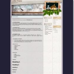 Letter Frame Blogger Template