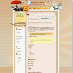 Letters to Juliet Blogger Template