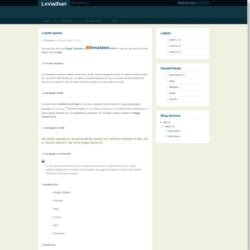 Leviathan Blogger Template