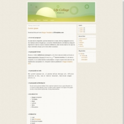 Life Collage Blogger Template