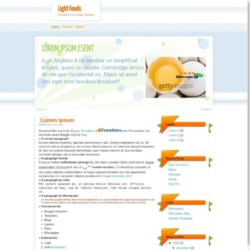Light Foods Blogger Template