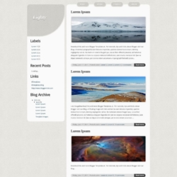 Lighty Blogger Template