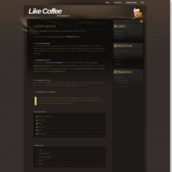Like Coffee Blogger Template