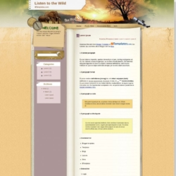 Listen to the Wild Blogger Template