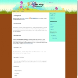 Little Wings Blogger Template