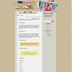 Little World Blogger Template