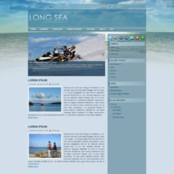 Long Sea Blogger Template