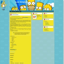 Los Simpsons Blogger Template