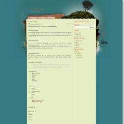 Lost Island Blogger Template