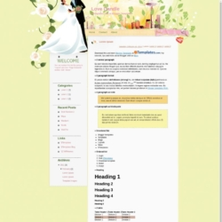 Love Candle Blogger Template