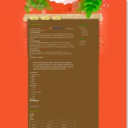 Love Eco Blogger Template