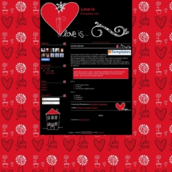 Love is Blogger Template