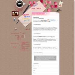 Love Letter Blogger Template
