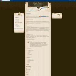 Magic Paper Blogger Template