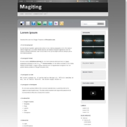Magiting Blogger Template