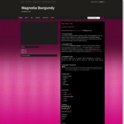 Magnolia Burgundy Blogger Template