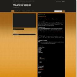 Magnolia Orange Blogger Template