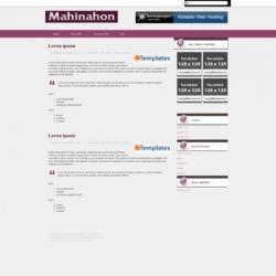 Mahinahon Blogger Template