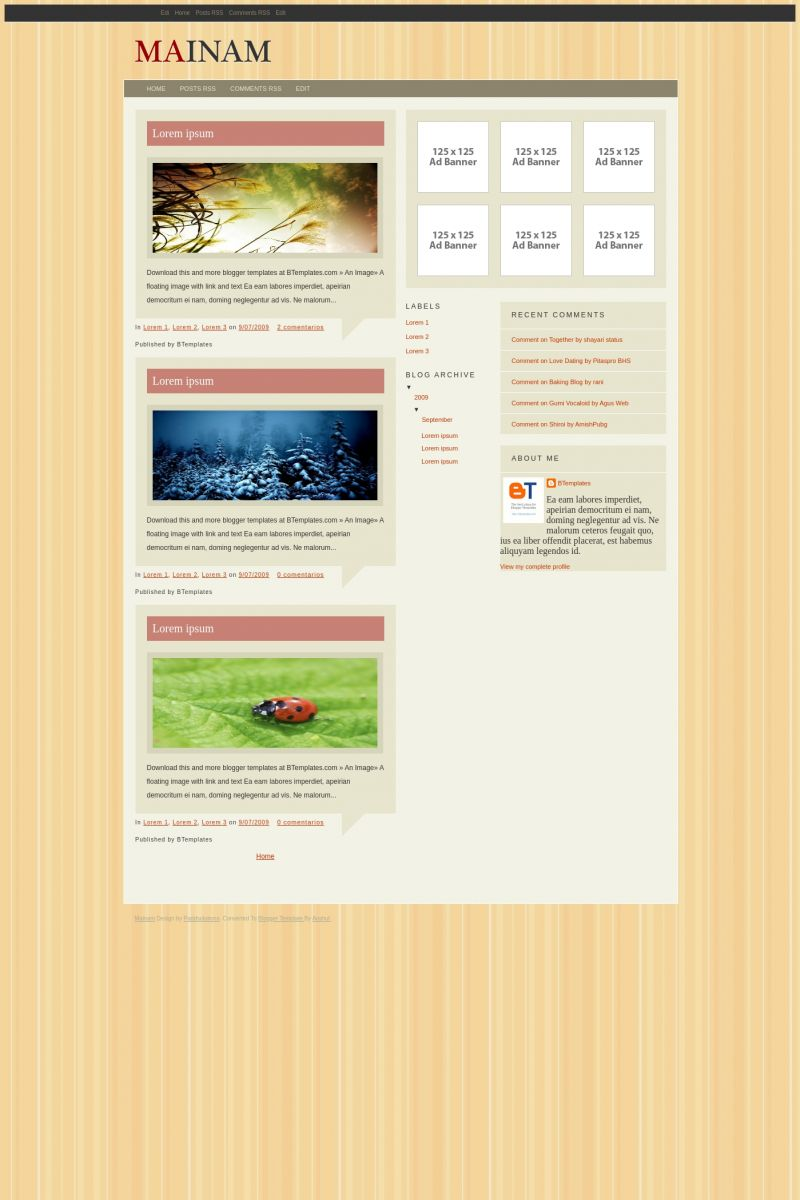 Download Mainam Blogger Template