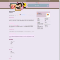 Make Up Blogger Template
