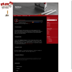 Marlboro Blogger Template