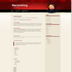 MaroonKing Blogger Template