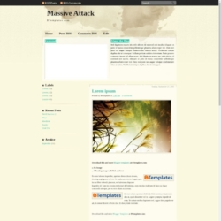 Massive Attack Blogger Template
