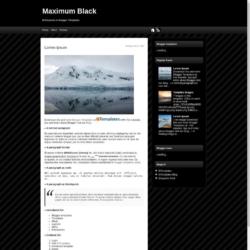 Maximum Black Blogger Template