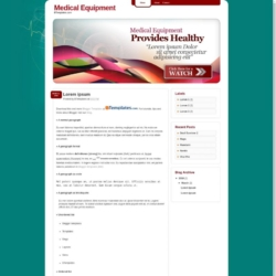 Medical Equipment Blogger Template