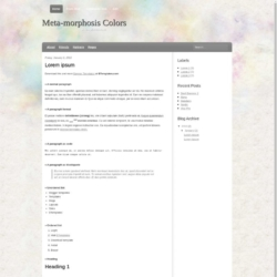 Meta-morphosis Colors Blogger Template