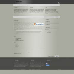Middle Light Blogger Template
