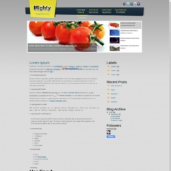 Mighty Blogger Template