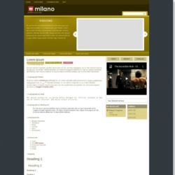 Milano Blogger Template