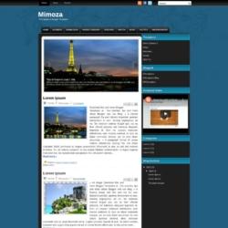 Mimoza Blogger Template