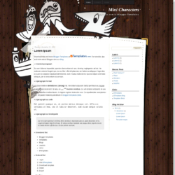 Mini Characters Blogger Template