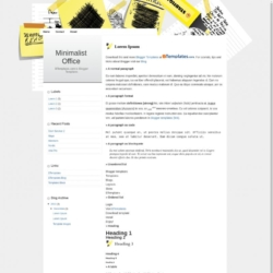 Minimalist Office Blogger Template