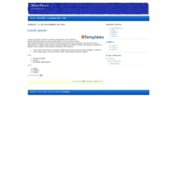 Mintflare Blogger Template