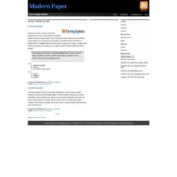 Modern Paper Blogger Template