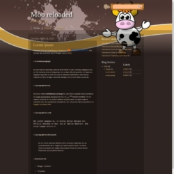 Moo reloaded Blogger Template