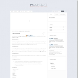 Moonlight Blogger Template