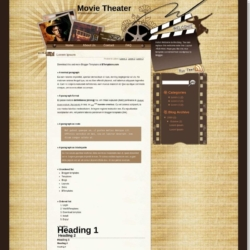 Movie Theater Blogger Template