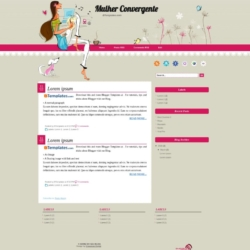 Mulher Convergente Blogger Template