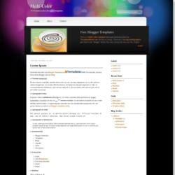 Multi Color Blogger Template