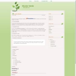 Mundo Verde Blogger Template