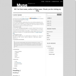 Muse Blogger Template