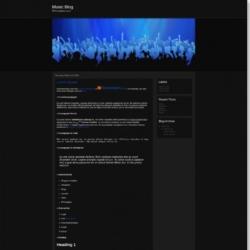 Music Blog Blogger Template