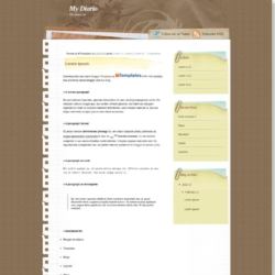 My Diario Blogger Template
