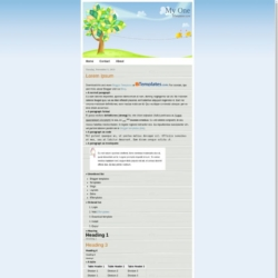 My One Blogger Template