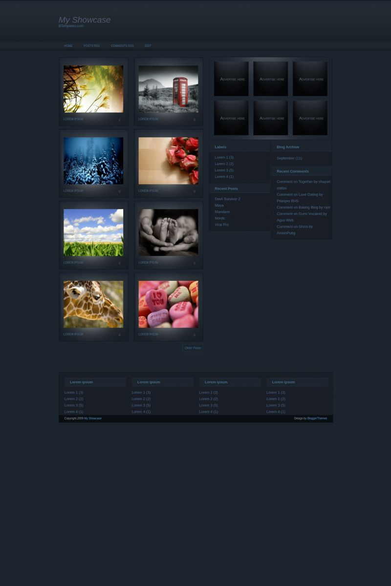 Download My Showcase Blogger Template