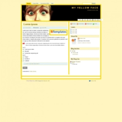 My Yellow Face Blogger Template